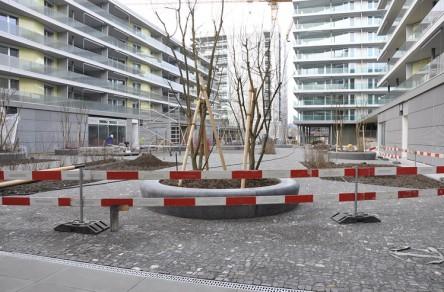 Wohnüberbauung Feldpark, Bauarbeiten