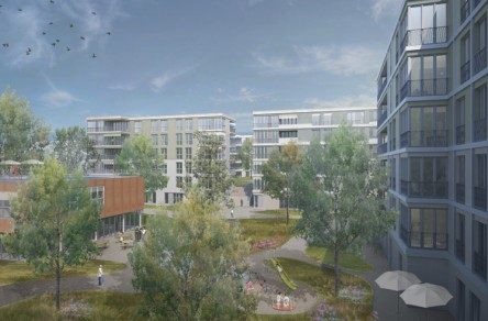 Wohnüberbauung Limmatfeld, Dietikon, Visualisierung
