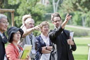 Kannenfeldpark Basel, Führung durch den Park